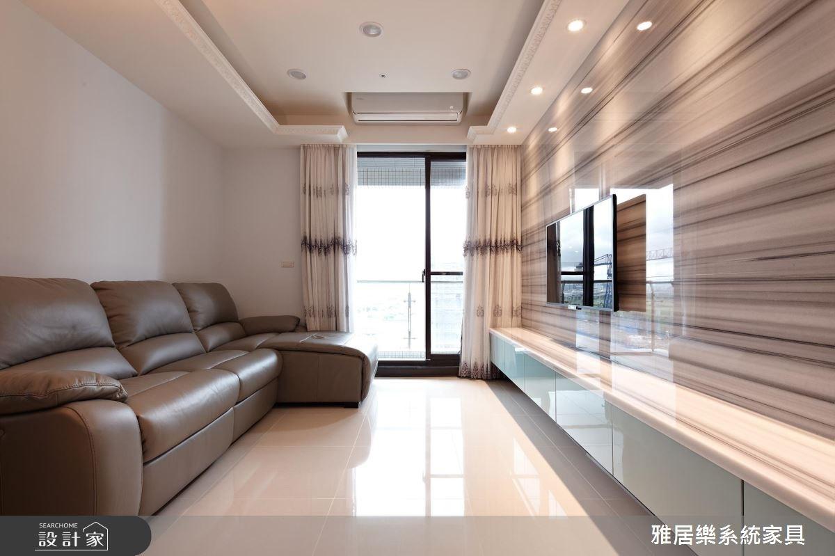 25坪新成屋(5年以下)_混搭風客廳案例圖片_雅居樂系統室內設計_雅居樂_05之3