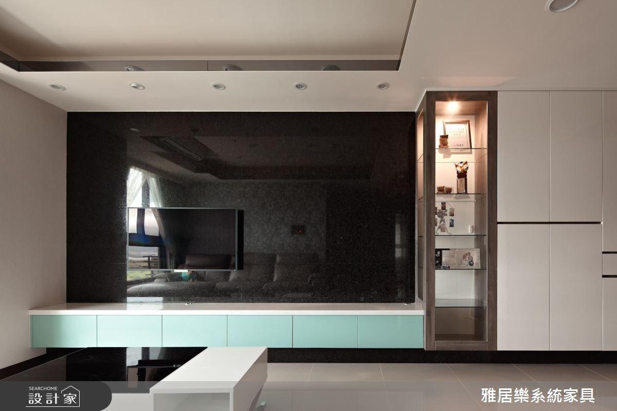 26坪新成屋(5年以下)_混搭風客廳案例圖片_雅居樂系統室內設計_雅居樂_06之3