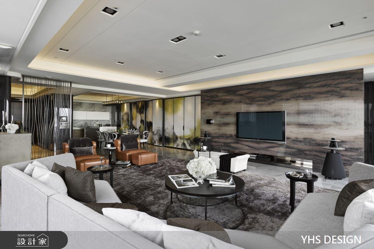 100坪新成屋(5年以下)_奢華風客廳案例圖片_YHS DESIGN設計事業_YHS_賦采之3