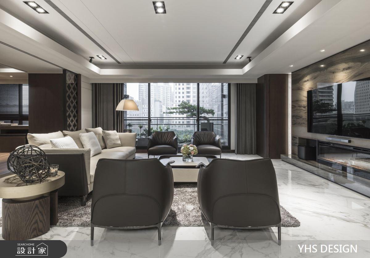 64坪新成屋(5年以下)_新中式風客廳案例圖片_YHS DESIGN設計事業_YHS_天青之3