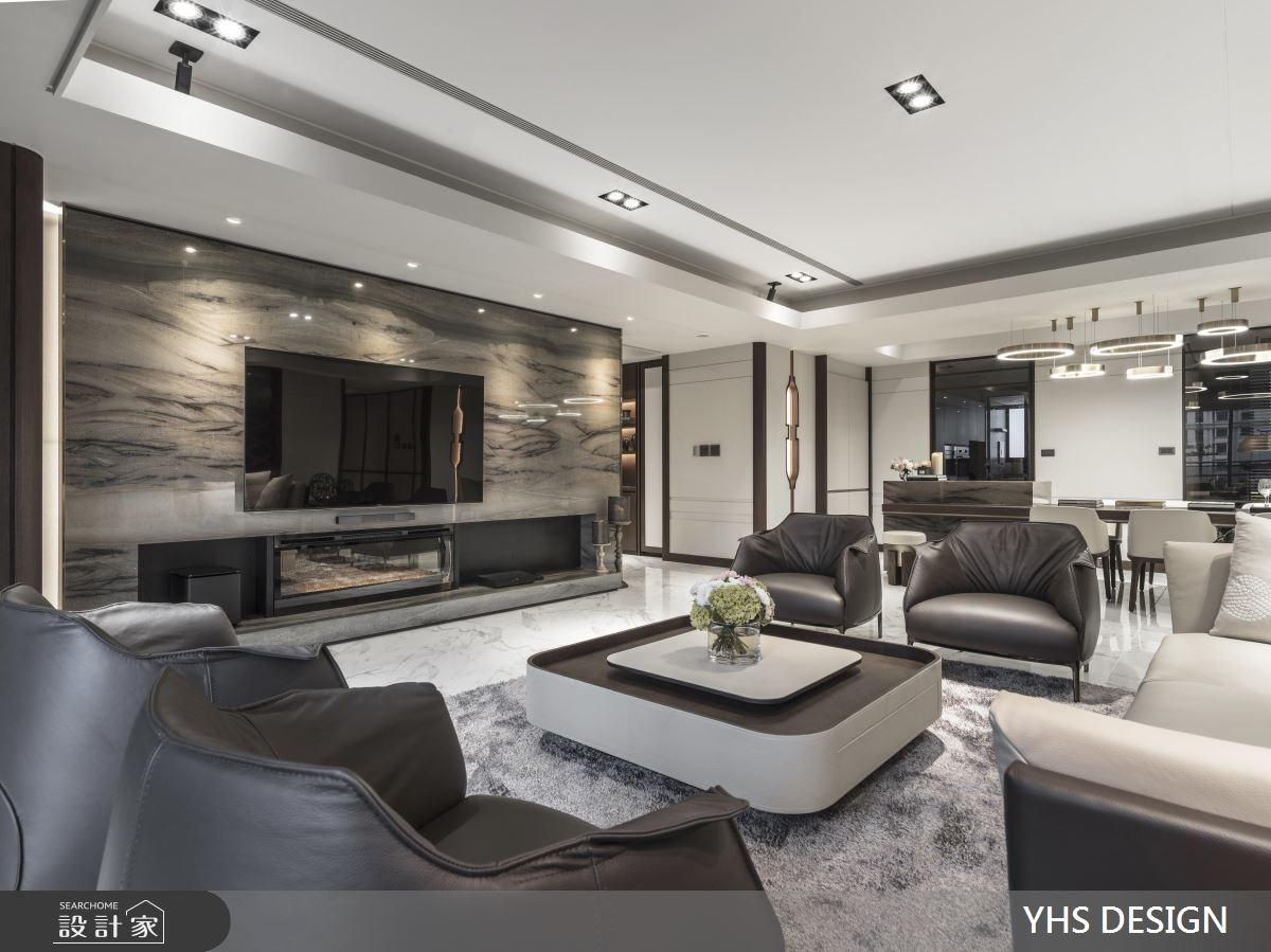 64坪新成屋(5年以下)_新中式風客廳案例圖片_YHS DESIGN設計事業_YHS_天青之6