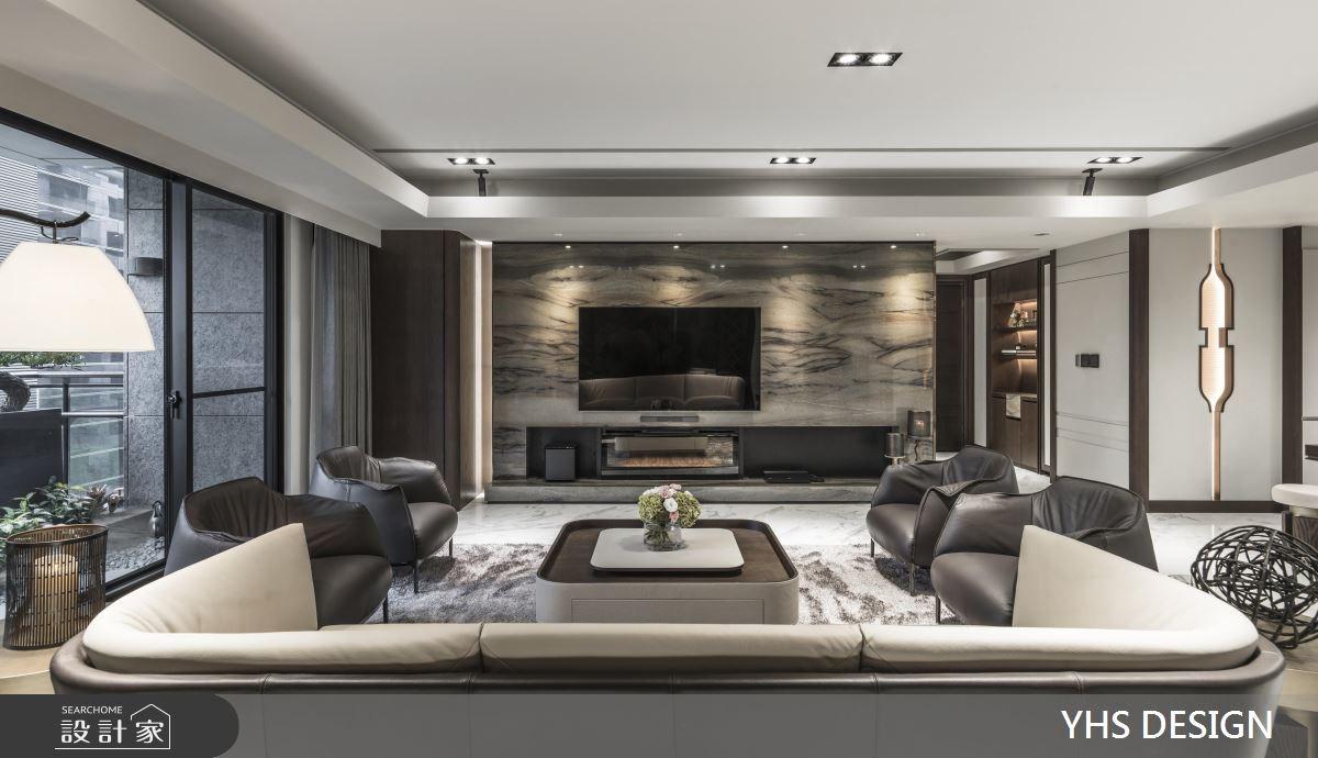64坪新成屋(5年以下)_新中式風客廳案例圖片_YHS DESIGN設計事業_YHS_天青之7