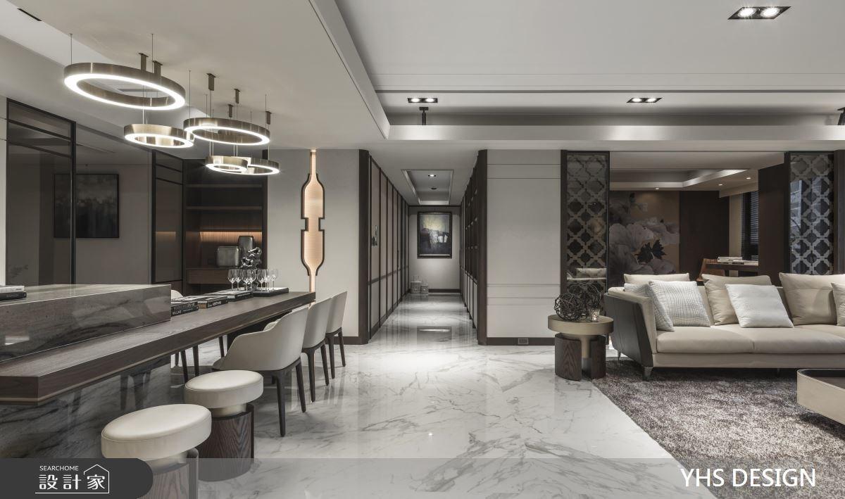 64坪新成屋(5年以下)_新中式風客廳餐廳吧檯案例圖片_YHS DESIGN設計事業_YHS_天青之8
