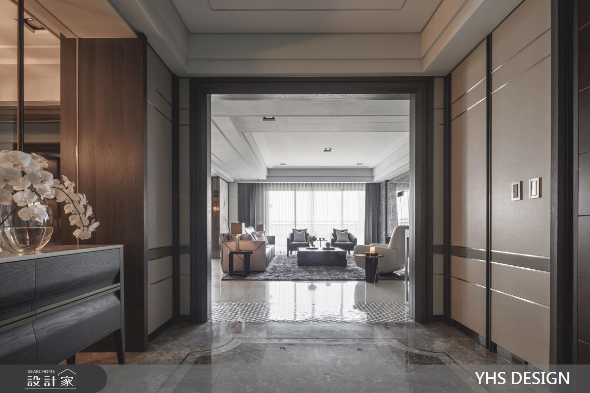 76坪新成屋(5年以下)_新古典玄關客廳案例圖片_YHS DESIGN設計事業_YHS_雍容之2