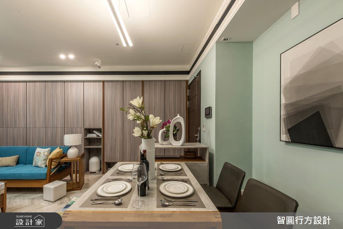 30坪新成屋(5年以下)_混搭風餐廳案例圖片_智圓行方設計工作室_智圓行方_02之3