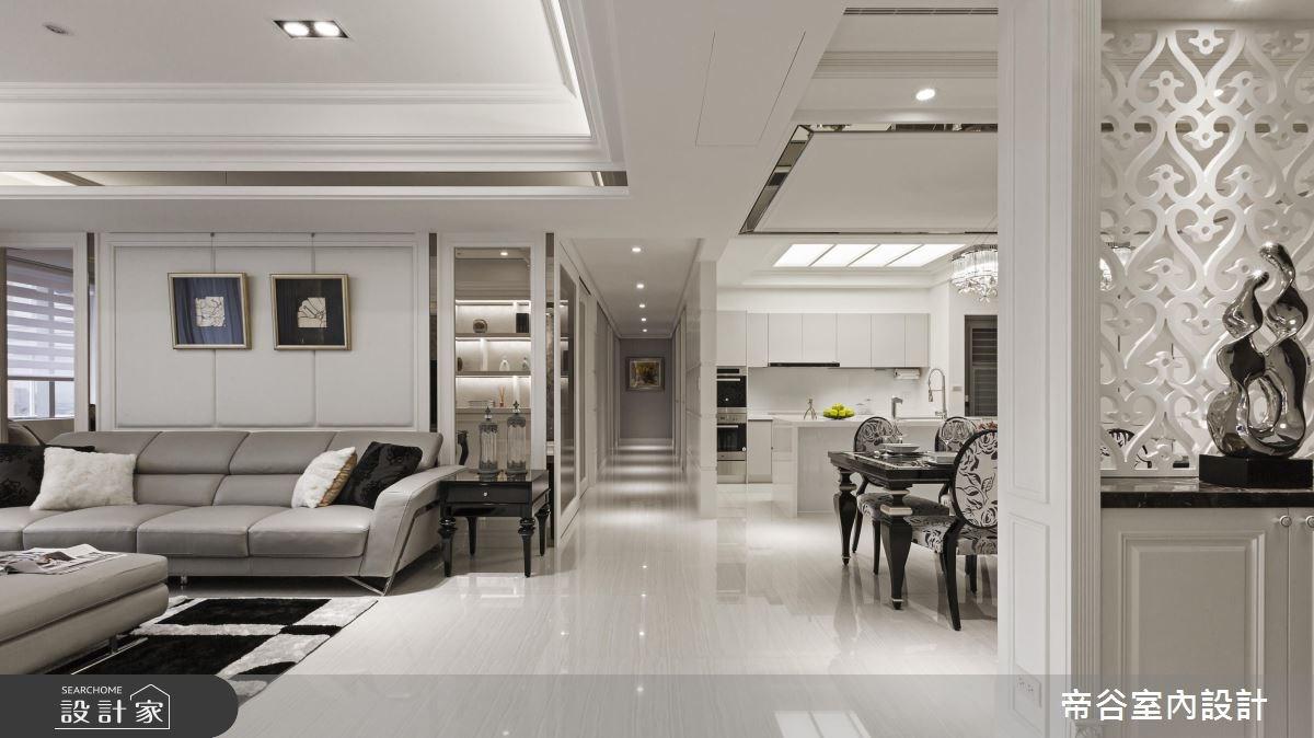 70坪新成屋(5年以下)_新古典客廳餐廳廚房走廊案例圖片_帝谷室內裝修設計有限公司_帝谷_03之3