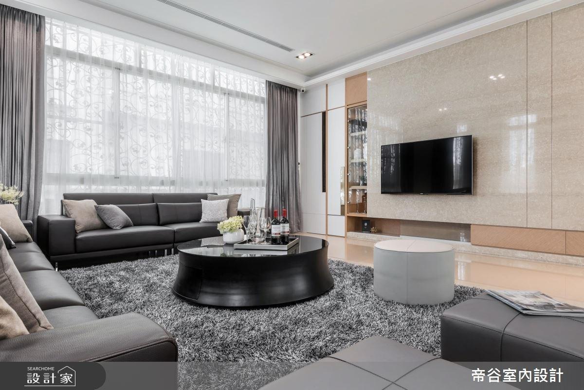 100坪_現代風客廳案例圖片_帝谷室內裝修設計有限公司_帝谷_12之1