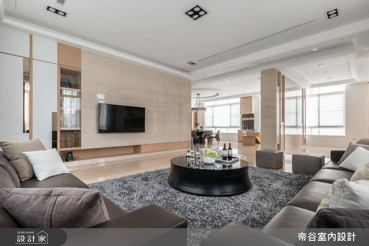 100坪_現代風客廳案例圖片_帝谷室內裝修設計有限公司_帝谷_12之2