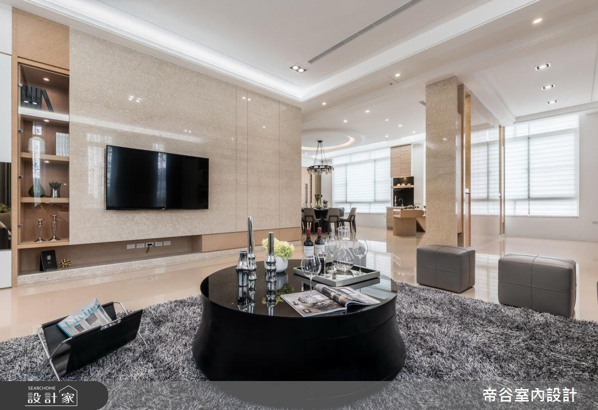 100坪_現代風客廳案例圖片_帝谷室內裝修設計有限公司_帝谷_12之3