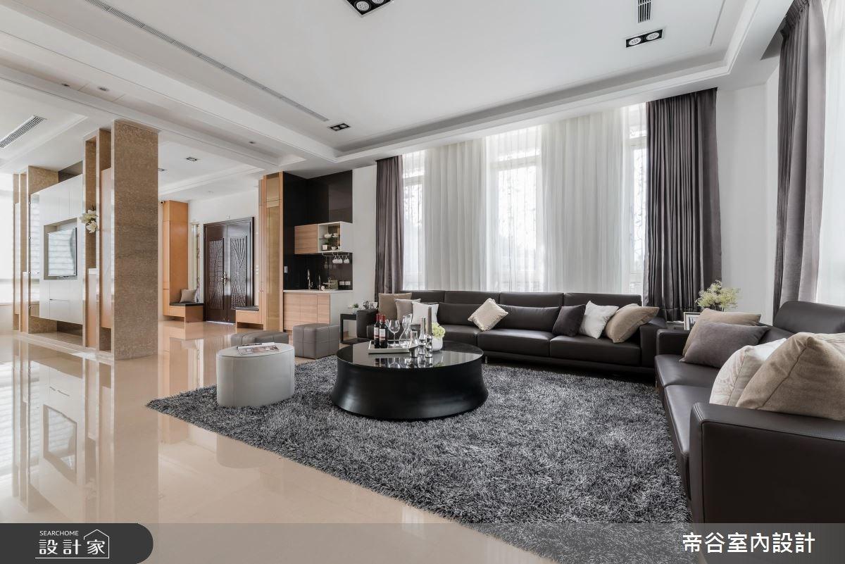 100坪_現代風客廳案例圖片_帝谷室內裝修設計有限公司_帝谷_12之5