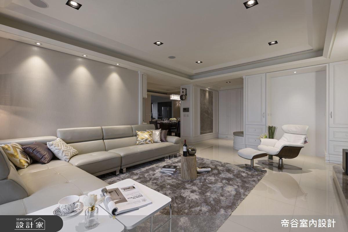 60坪新成屋(5年以下)_新古典客廳案例圖片_帝谷室內裝修設計有限公司_帝谷_13之4