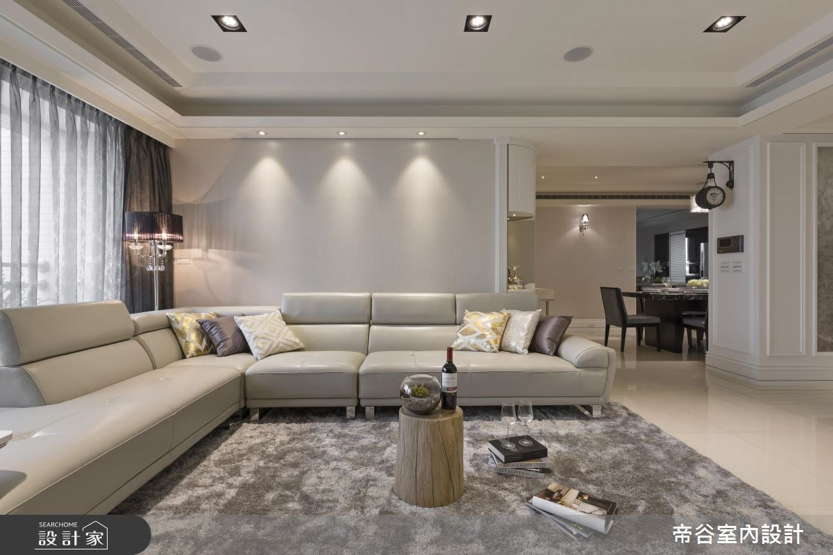 60坪新成屋(5年以下)_新古典客廳案例圖片_帝谷室內裝修設計有限公司_帝谷_13之5