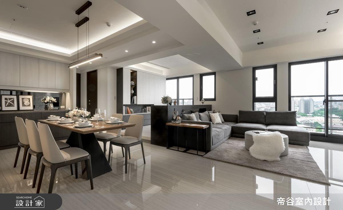 80坪新成屋(5年以下)_現代風客廳餐廳案例圖片_帝谷室內裝修設計有限公司_帝谷_14之1