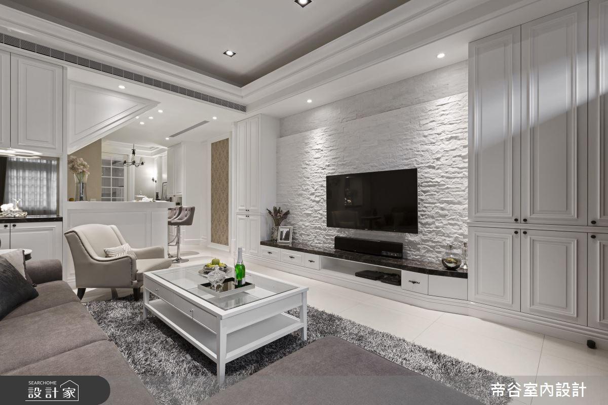 90坪新成屋(5年以下)_美式風客廳案例圖片_帝谷室內裝修設計有限公司_帝谷_15之1