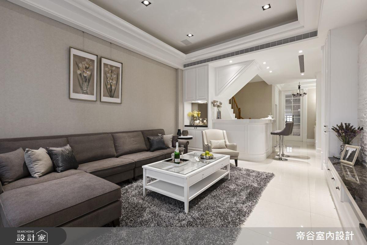90坪新成屋(5年以下)_美式風客廳案例圖片_帝谷室內裝修設計有限公司_帝谷_15之2
