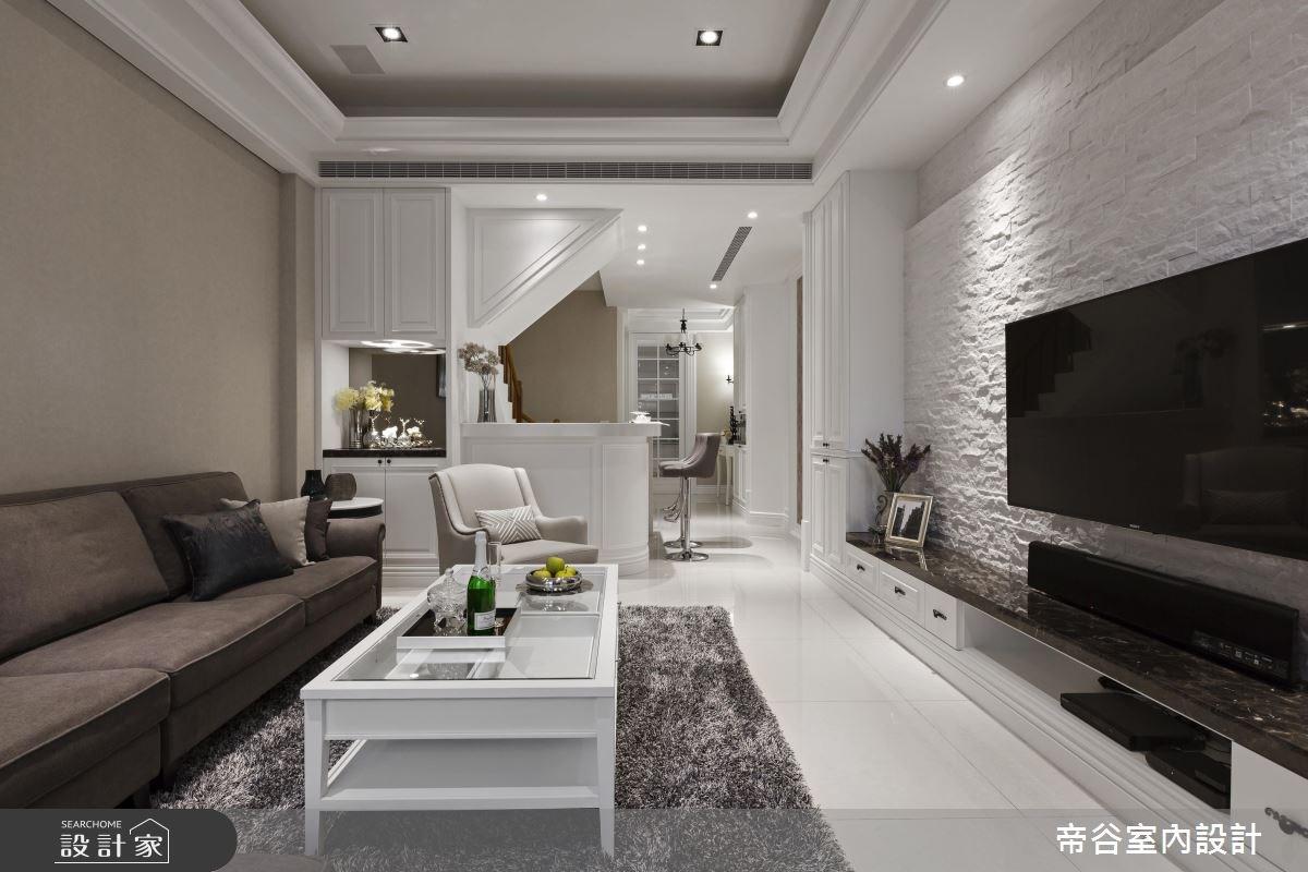 90坪新成屋(5年以下)_美式風客廳案例圖片_帝谷室內裝修設計有限公司_帝谷_15之3