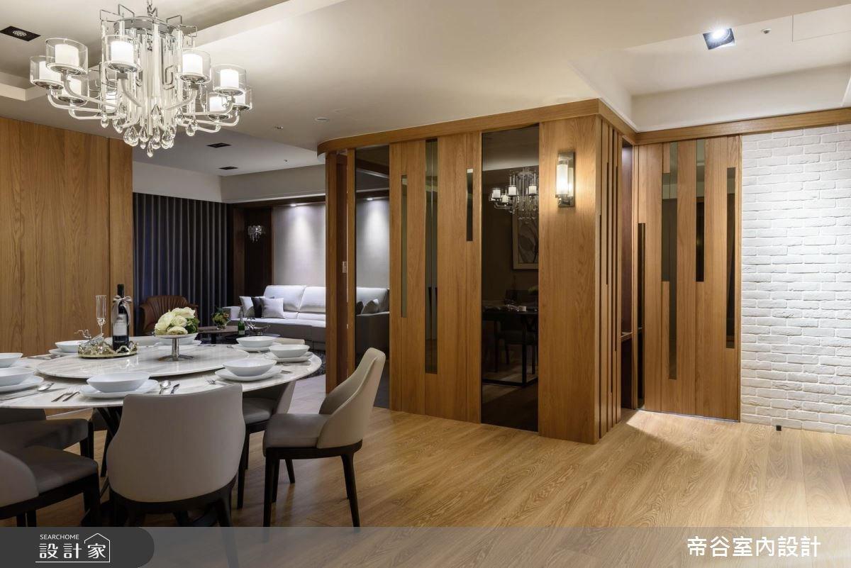 90坪新成屋(5年以下)_混搭風玄關餐廳案例圖片_帝谷室內裝修設計有限公司_帝谷_18之2