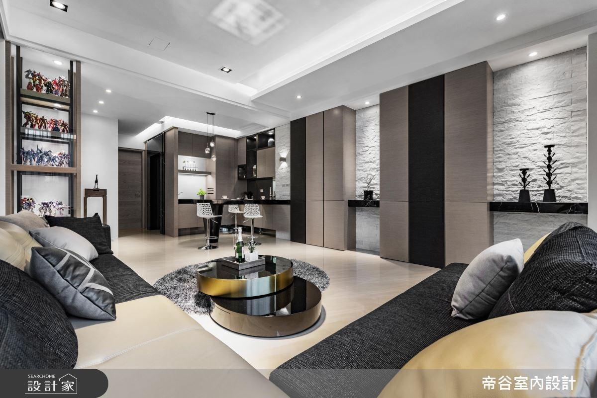 120坪新成屋(5年以下)_現代風客廳案例圖片_帝谷室內裝修設計有限公司_帝谷_19之3