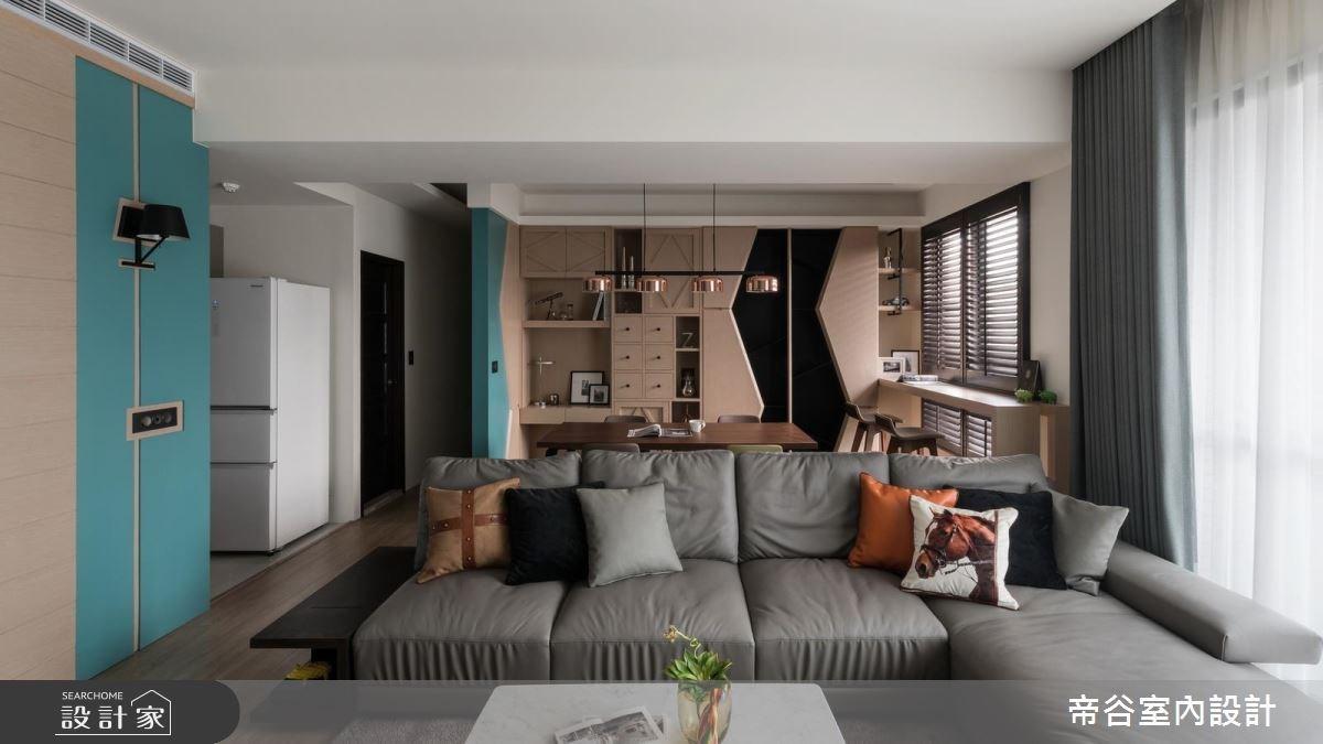 23坪新成屋(5年以下)_北歐風客廳案例圖片_帝谷室內裝修設計有限公司_帝谷_20之5