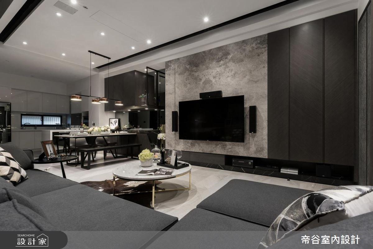 60坪新成屋(5年以下)_現代風玄關客廳案例圖片_帝谷室內裝修設計有限公司_帝谷_21之4