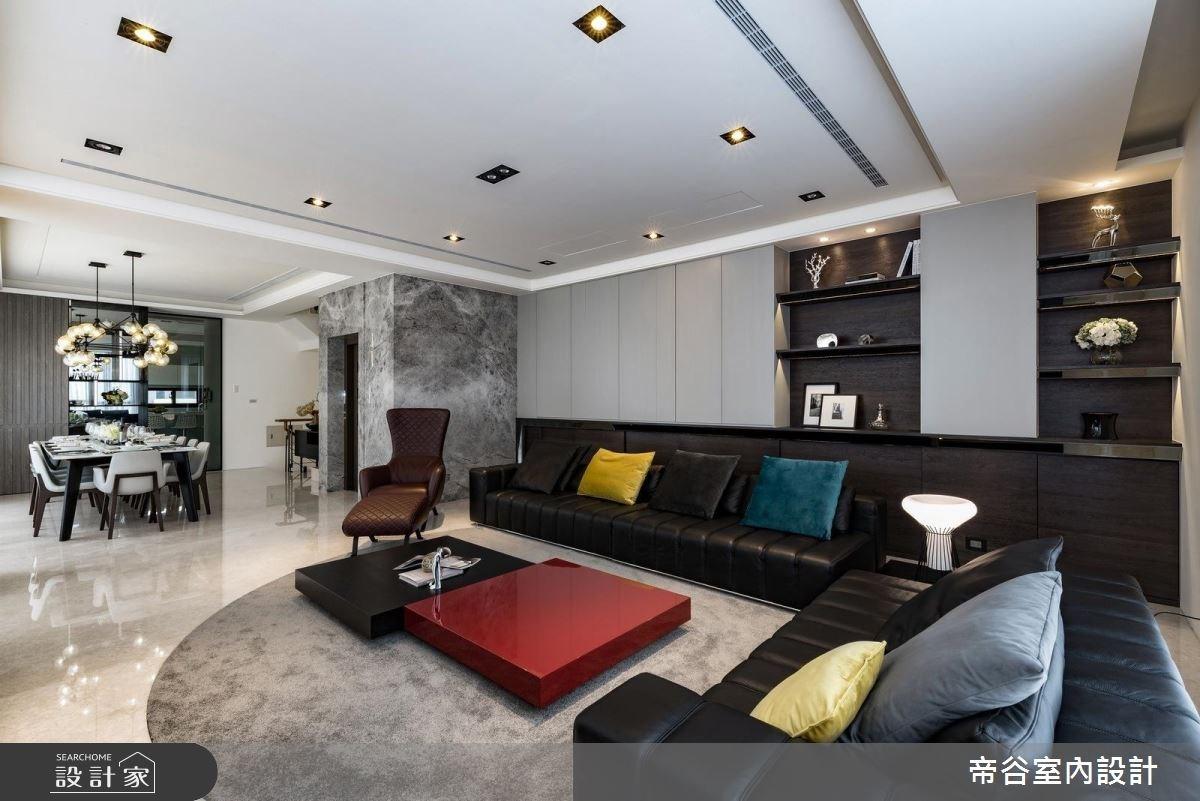150坪新成屋(5年以下)_現代風客廳案例圖片_帝谷室內裝修設計有限公司_帝谷_25之3