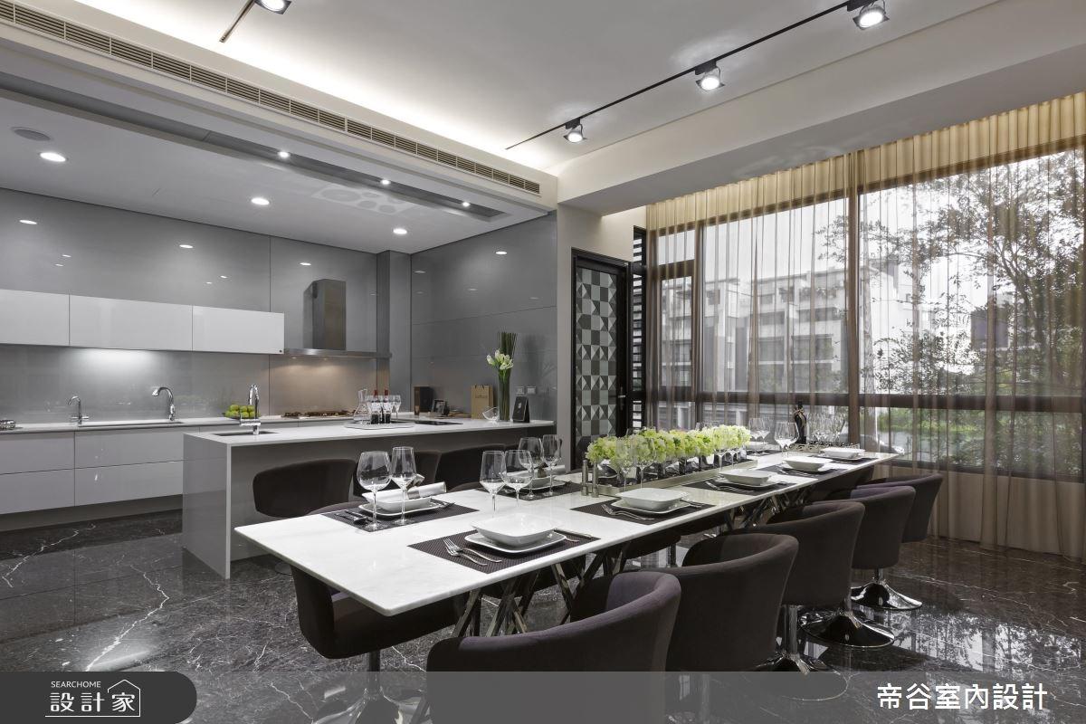 200坪預售屋_現代風餐廳廚房吧檯案例圖片_帝谷室內裝修設計有限公司_帝谷_27之5