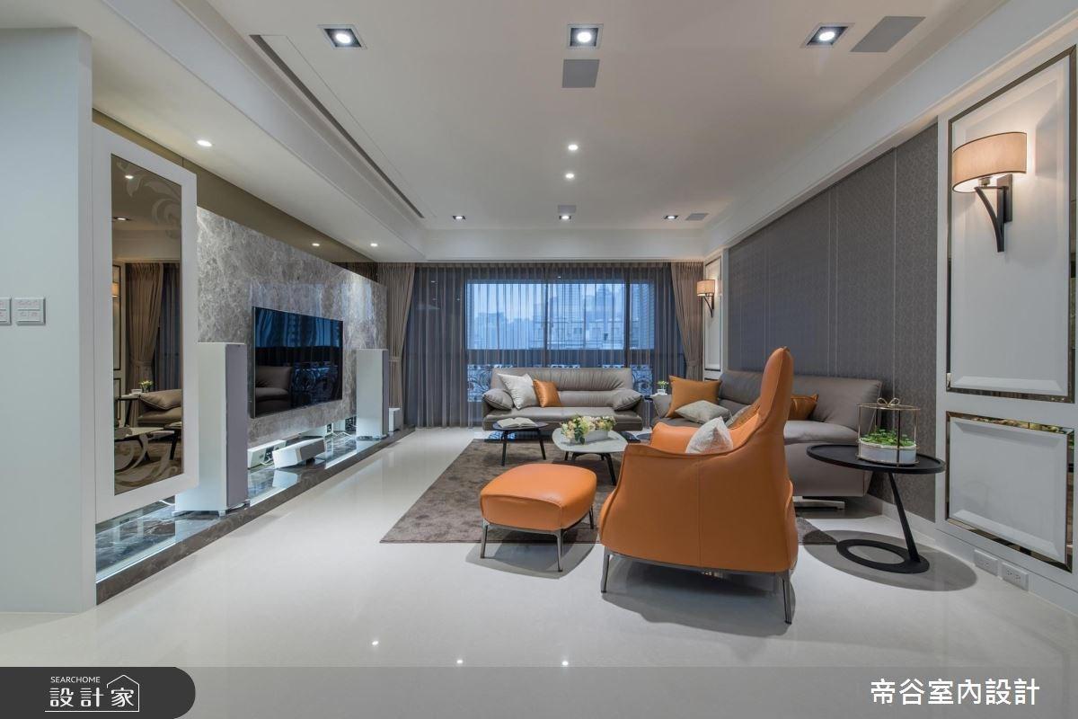 88坪新成屋(5年以下)_新古典客廳案例圖片_帝谷室內裝修設計有限公司_帝谷_30之2