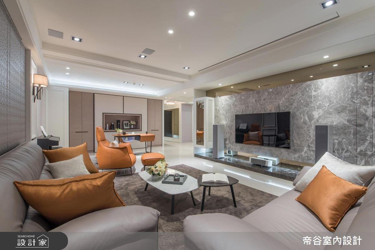 88坪新成屋(5年以下)_新古典客廳案例圖片_帝谷室內裝修設計有限公司_帝谷_30之4