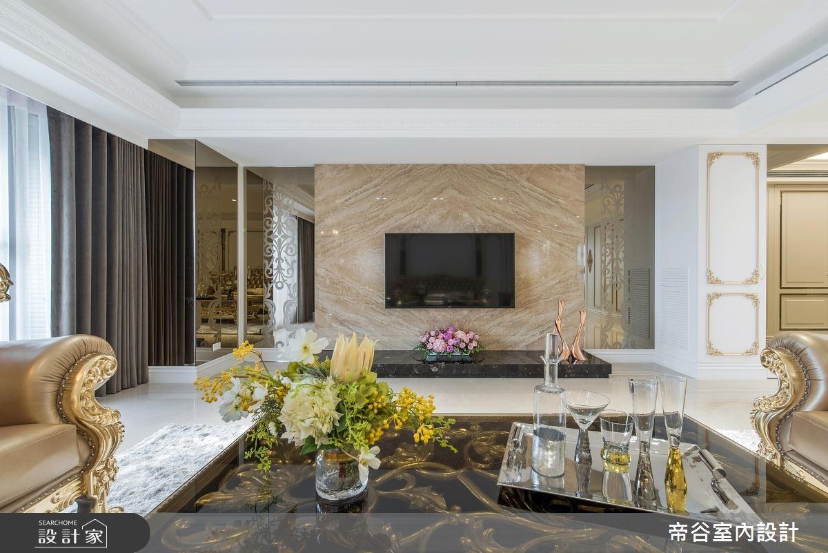 94坪新成屋(5年以下)_新古典客廳案例圖片_帝谷室內裝修設計有限公司_帝谷_32之4