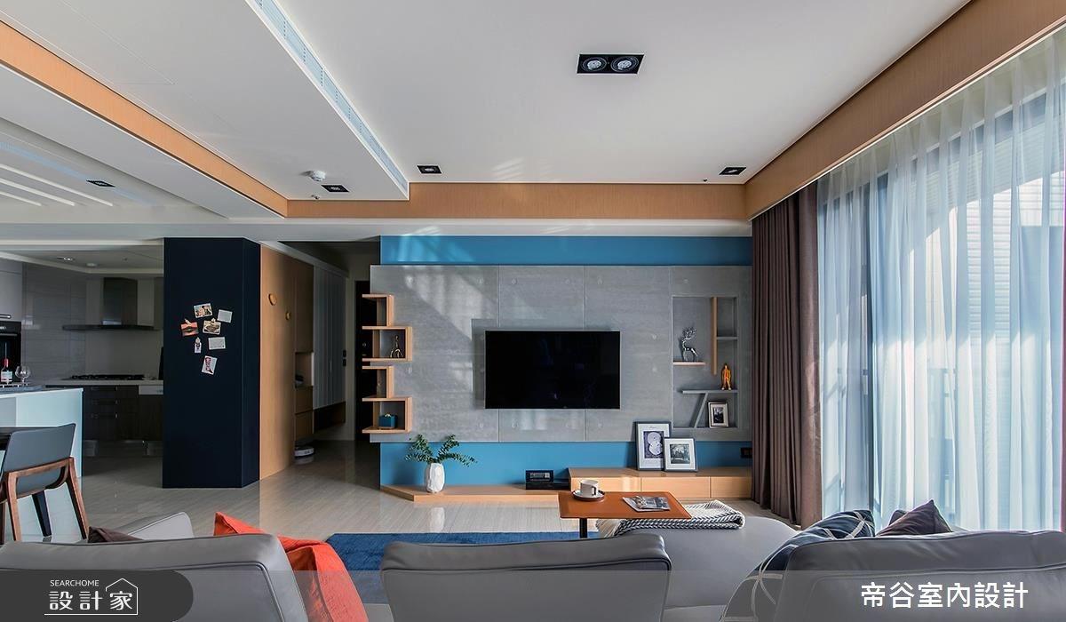 70坪新成屋(5年以下)_混搭風客廳案例圖片_帝谷室內裝修設計有限公司_帝谷_33之1