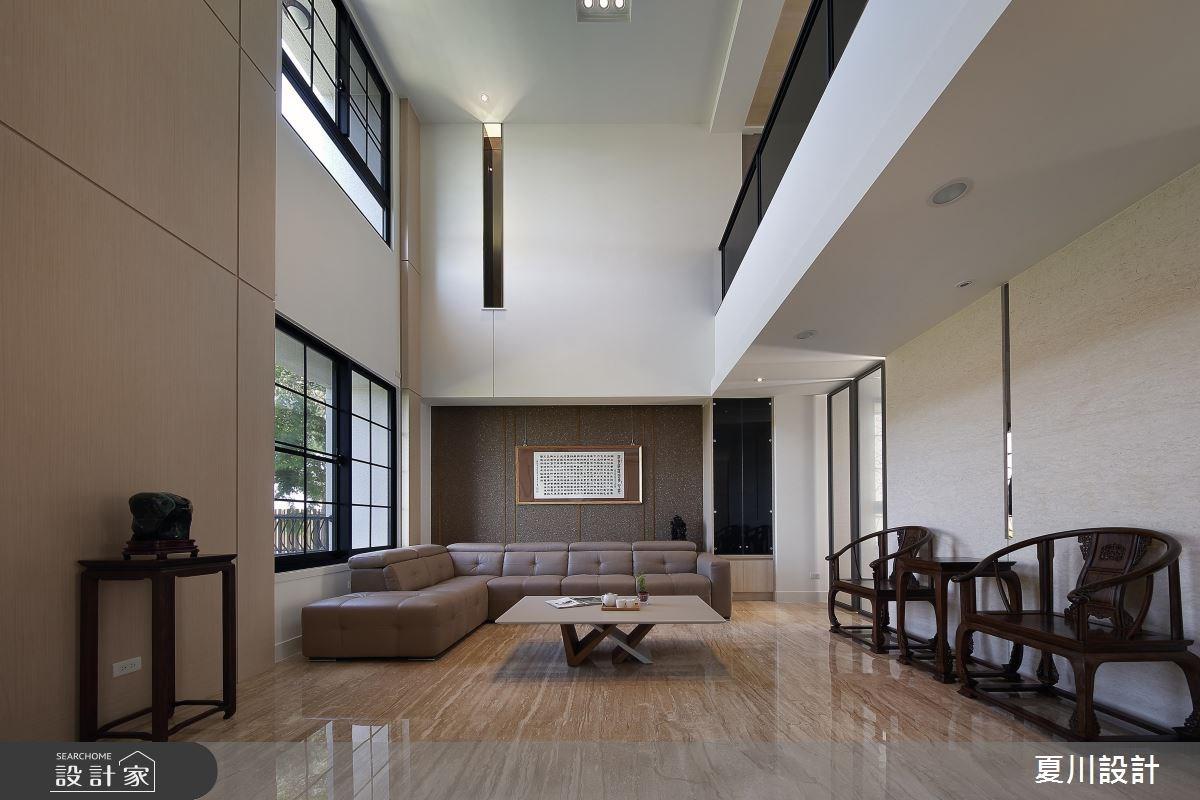 100坪預售屋_混搭風客廳案例圖片_夏川空間設計工作室_夏川_02之3