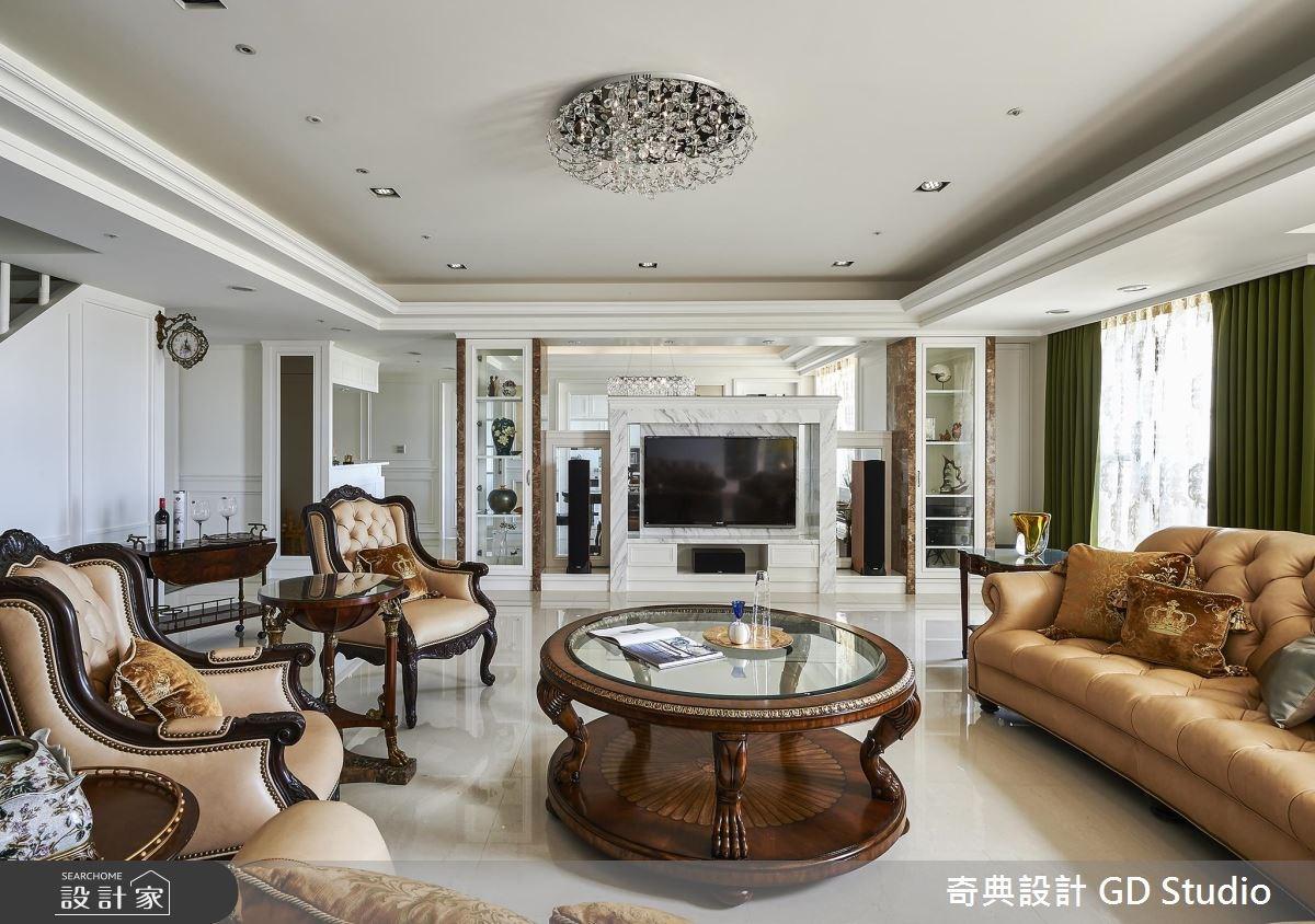 125坪新成屋(5年以下)_美式風客廳案例圖片_奇典設計_奇典_02之3
