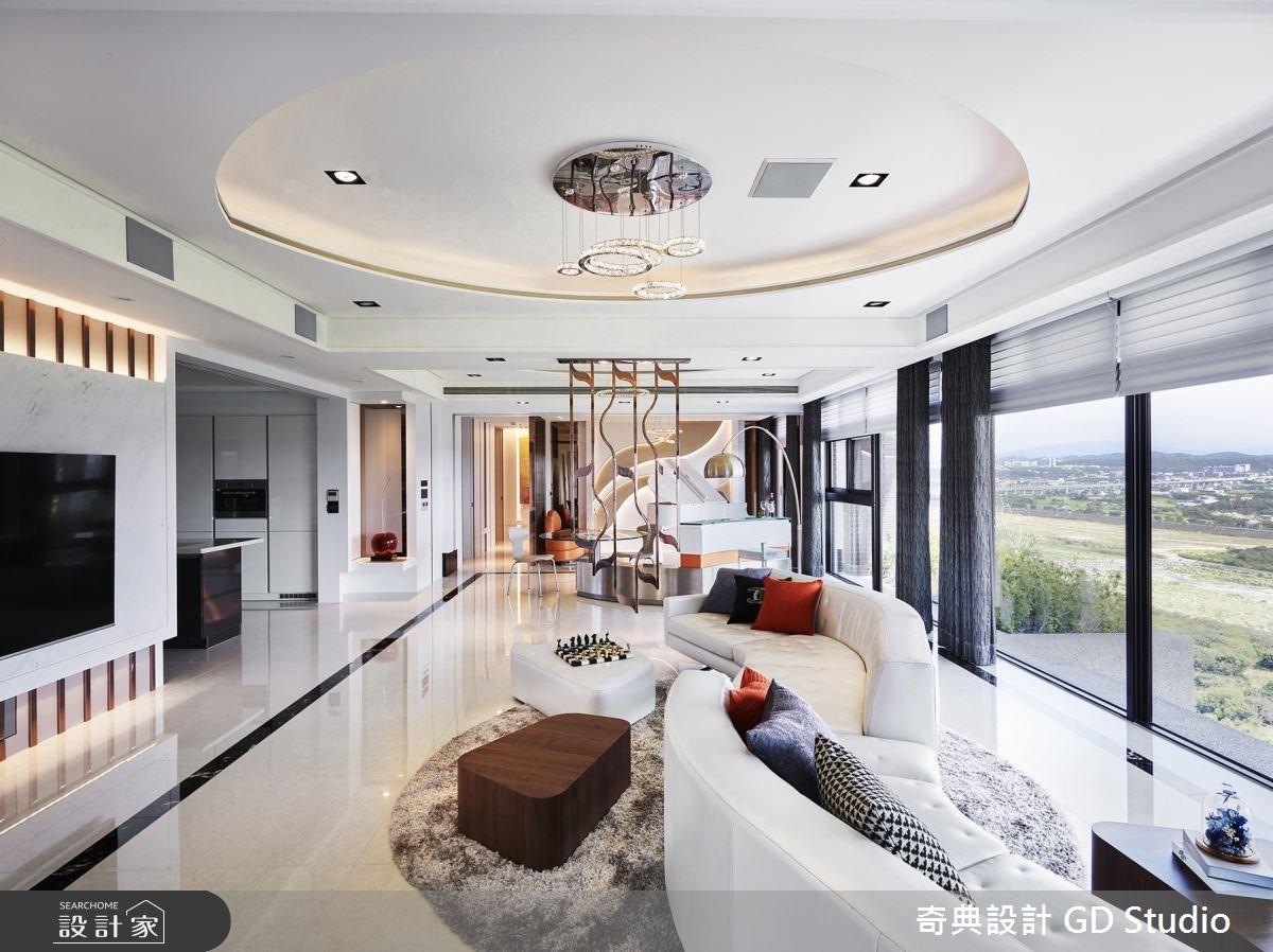70坪新成屋(5年以下)_現代風客廳案例圖片_奇典設計_奇典_10之3