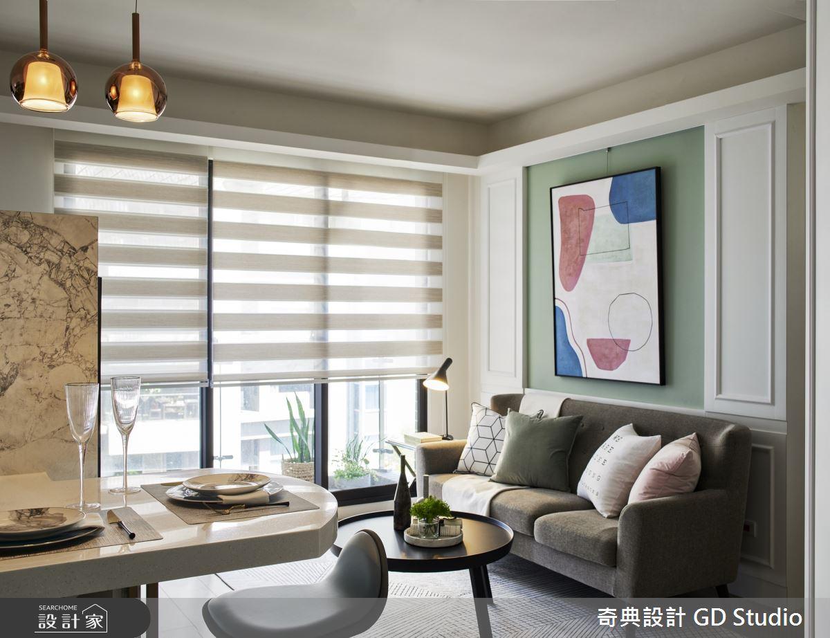 20坪新成屋(5年以下)_美式風客廳餐廳案例圖片_奇典設計_奇典_13之4