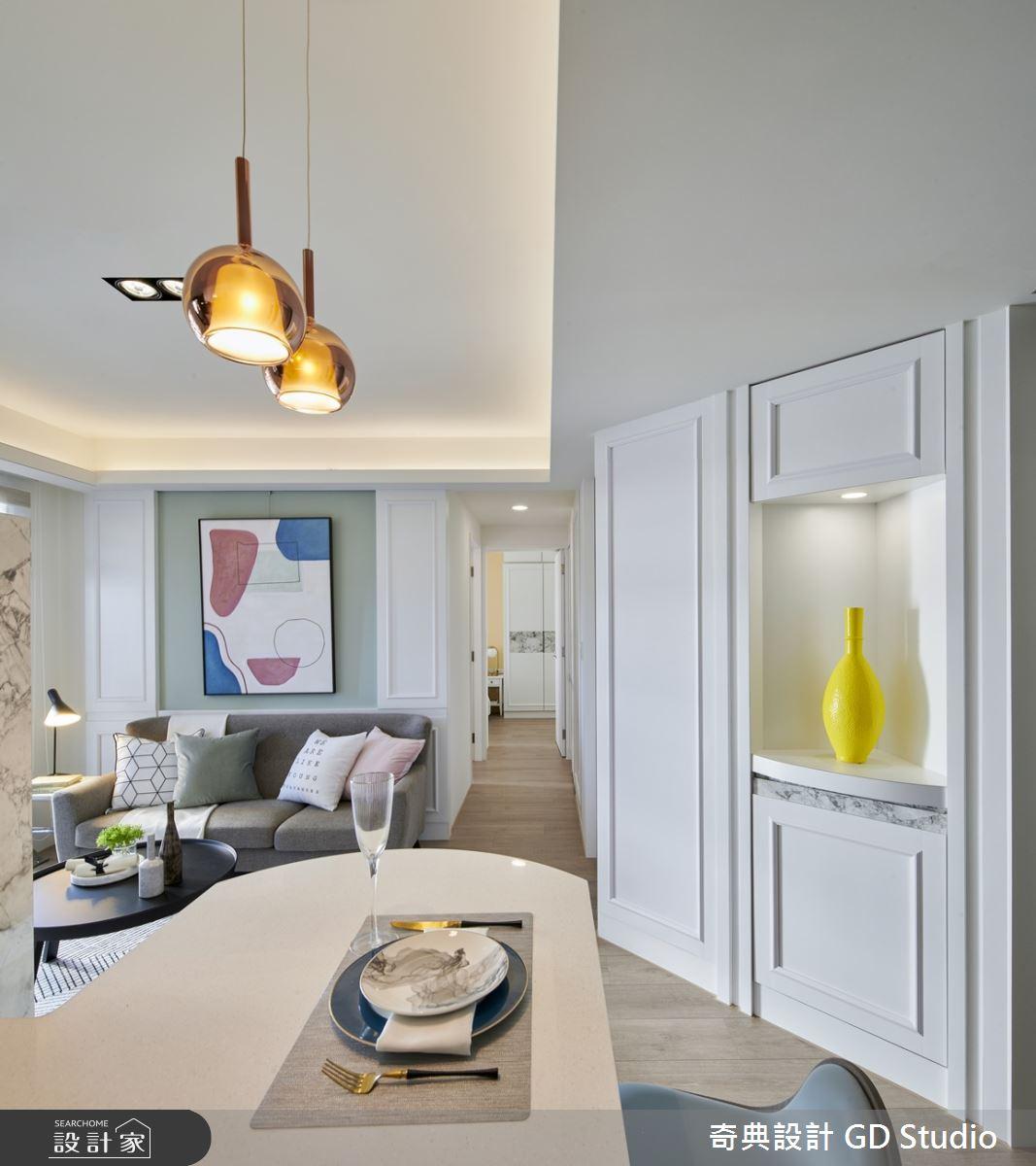 20坪新成屋(5年以下)_美式風客廳餐廳案例圖片_奇典設計_奇典_13之3