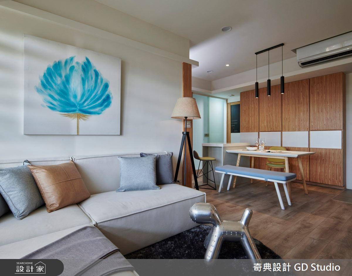 21坪中古屋(5~15年)_日式無印風客廳餐廳案例圖片_奇典設計_奇典_14之3