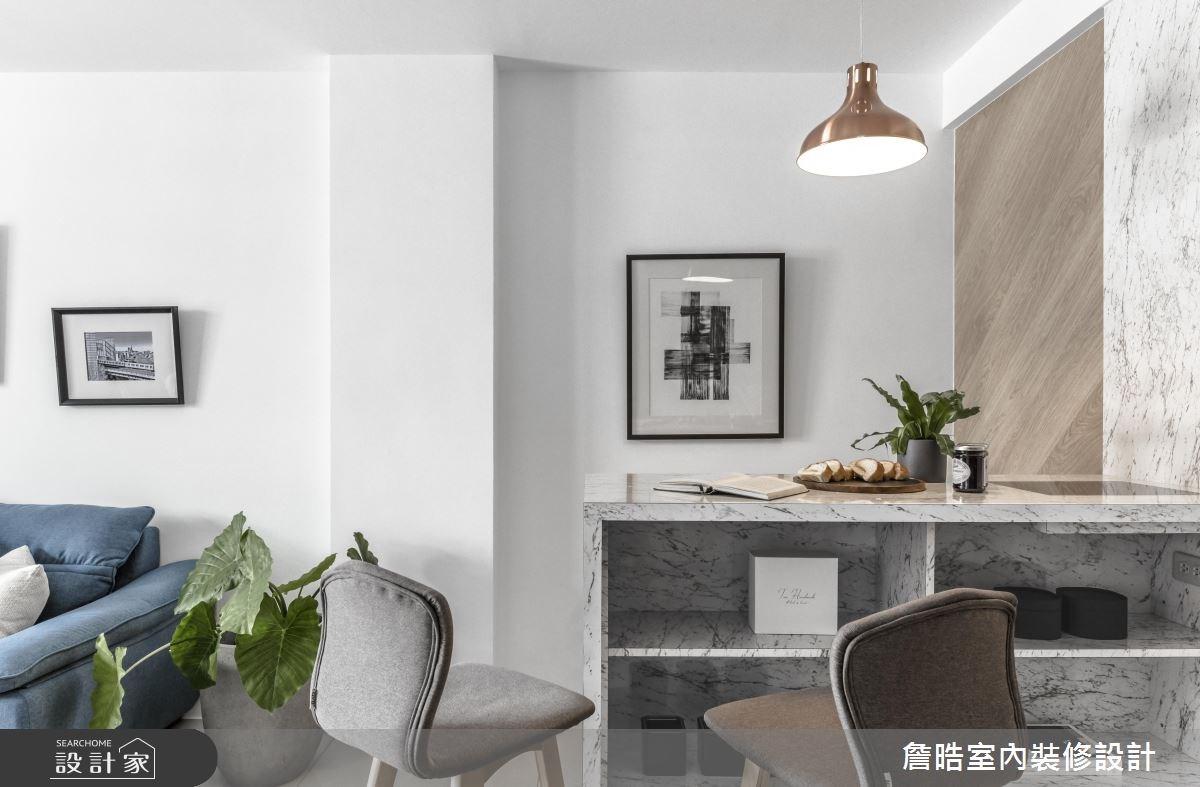 60坪新成屋(5年以下)_現代風客廳餐廳吧檯案例圖片_詹晧室內裝修設計有限公司_詹晧_06之8
