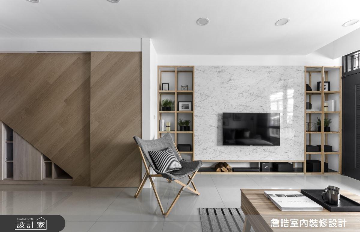 60坪新成屋(5年以下)_現代風客廳案例圖片_詹晧室內裝修設計有限公司_詹晧_06之9