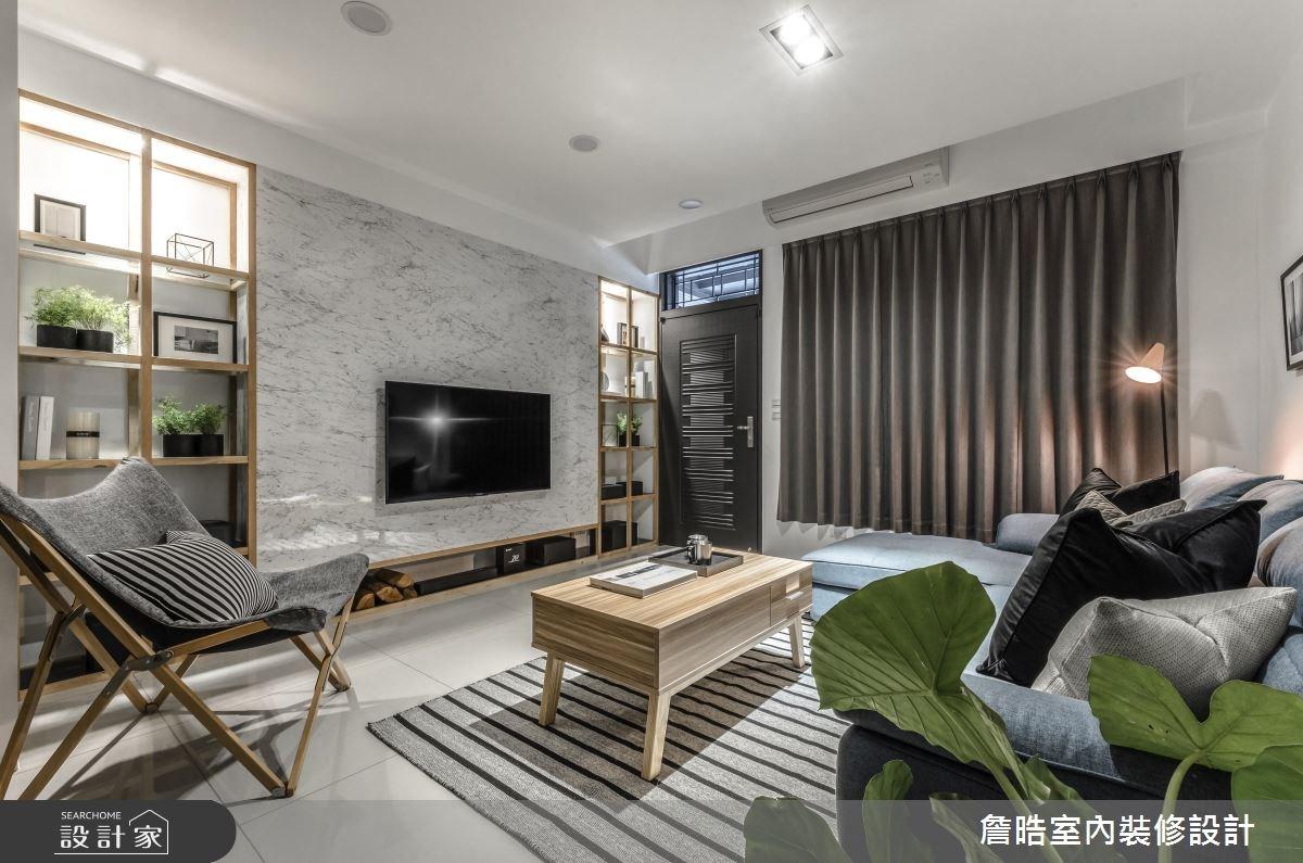 60坪新成屋(5年以下)_現代風客廳案例圖片_詹晧室內裝修設計有限公司_詹晧_06之11