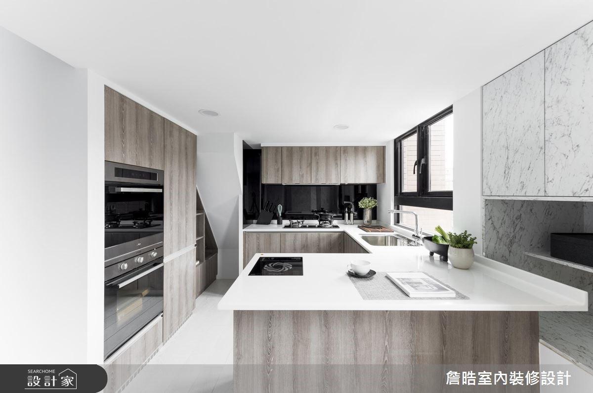 12坪新成屋(5年以下)_現代風廚房案例圖片_詹晧室內裝修設計有限公司_詹晧_08之5
