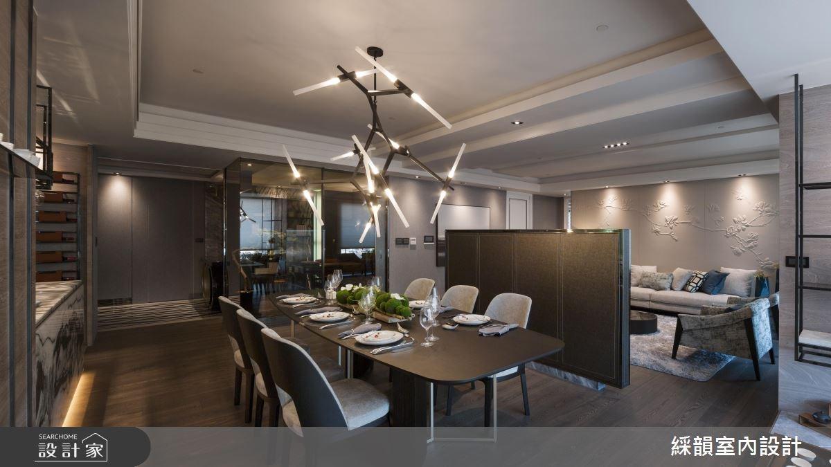 95坪新成屋(5年以下)_奢華風客廳餐廳案例圖片_綵韻室內設計有限公司_綵韻_02之2