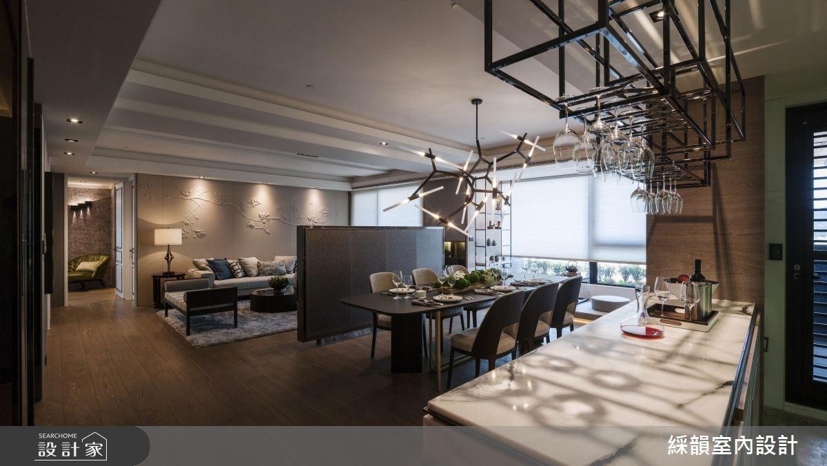 95坪新成屋(5年以下)_奢華風客廳餐廳案例圖片_綵韻室內設計有限公司_綵韻_02之3