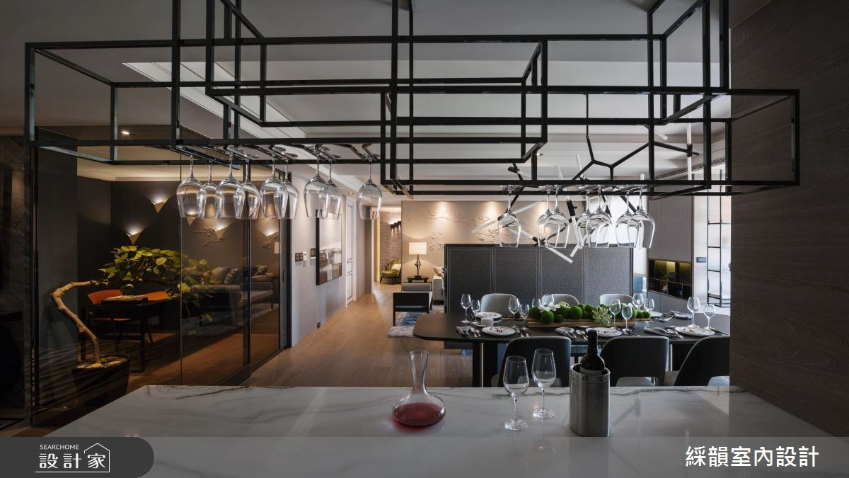 95坪新成屋(5年以下)_奢華風客廳餐廳吧檯案例圖片_綵韻室內設計有限公司_綵韻_02之4