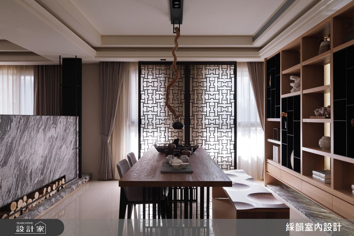 100坪新成屋(5年以下)_新中式風餐廳案例圖片_綵韻室內設計有限公司_綵韻_03之2