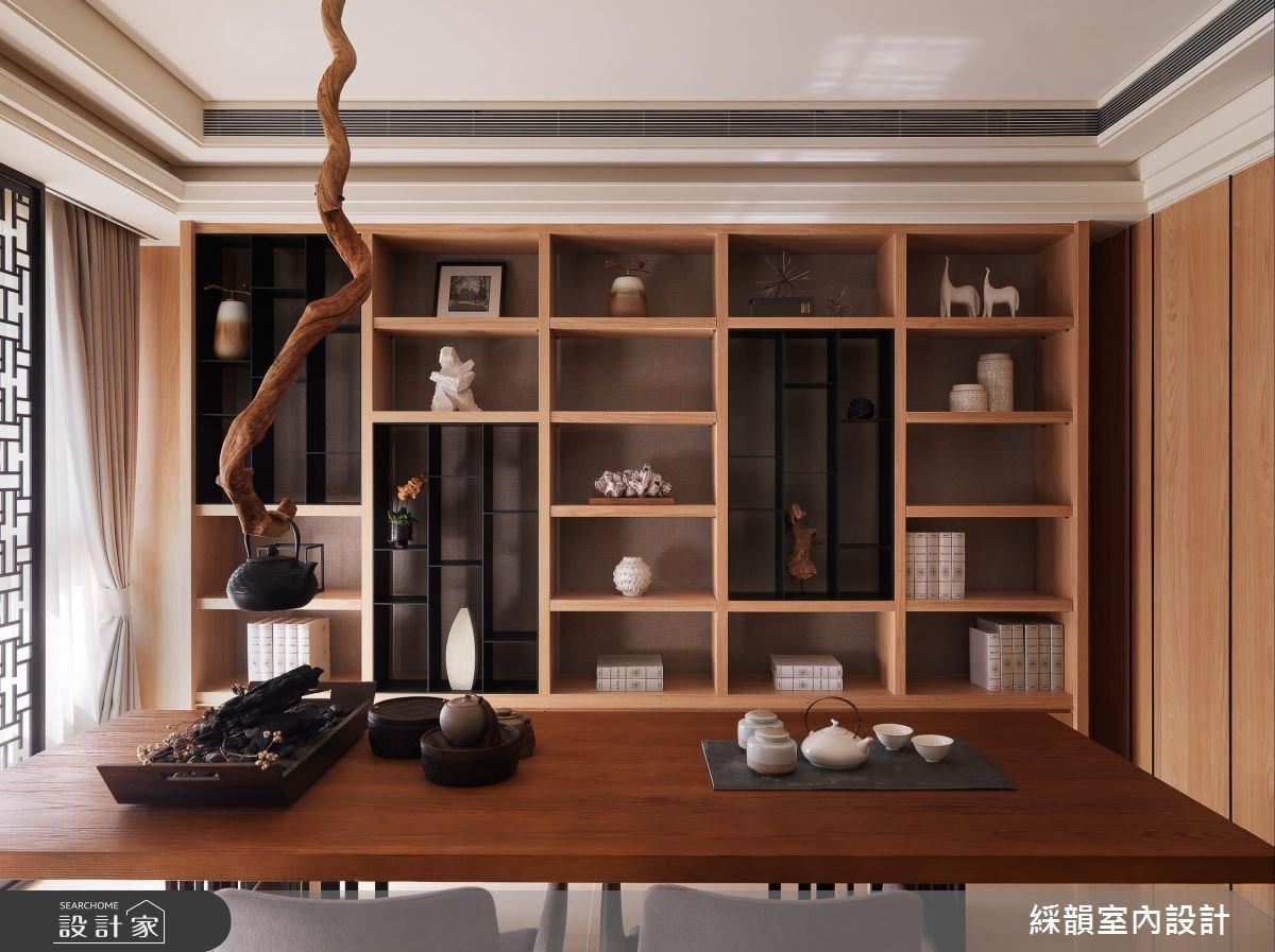 100坪新成屋(5年以下)_新中式風餐廳案例圖片_綵韻室內設計有限公司_綵韻_03之3