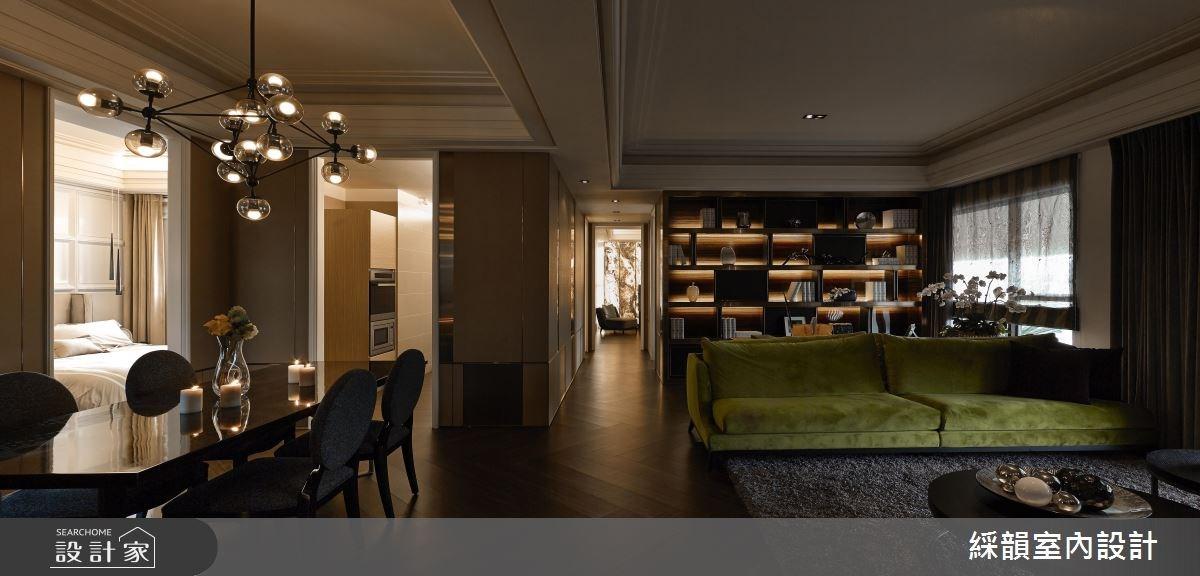 80坪新成屋(5年以下)_混搭風客廳案例圖片_綵韻室內設計有限公司_綵韻_04之2