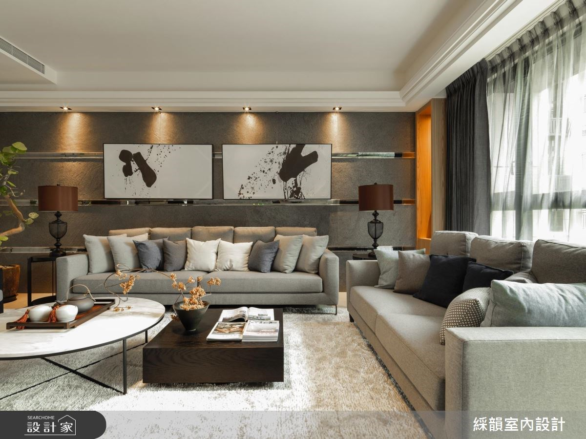 100坪新成屋(5年以下)_現代風客廳案例圖片_綵韻室內設計有限公司_綵韻_05之4