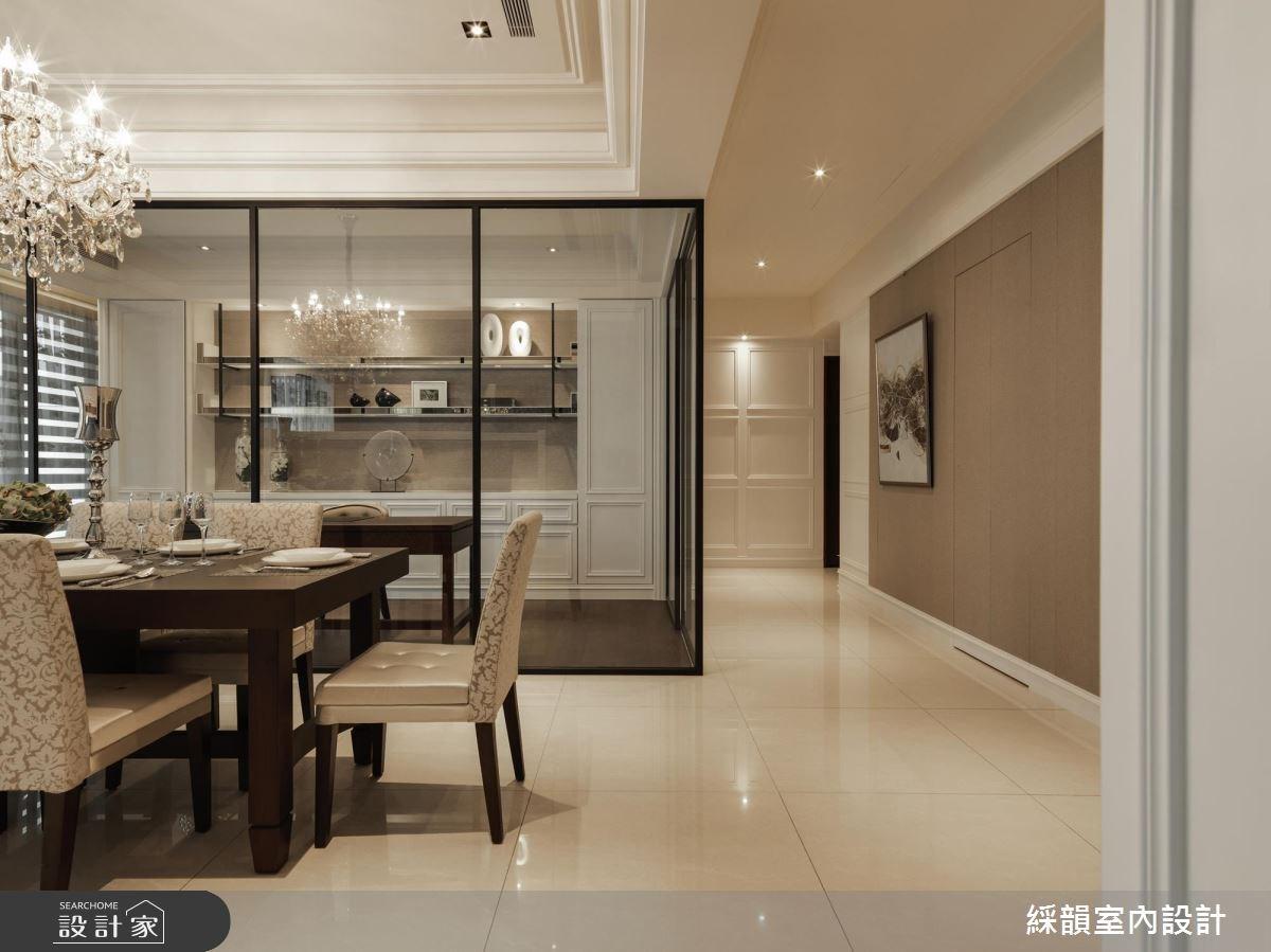 80坪新成屋(5年以下)_新古典餐廳案例圖片_綵韻室內設計有限公司_綵韻_06之3