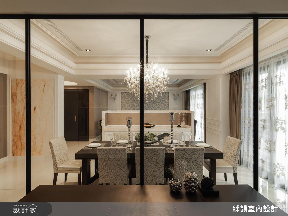 80坪新成屋(5年以下)_新古典餐廳案例圖片_綵韻室內設計有限公司_綵韻_06之4