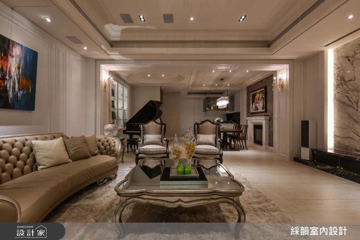 150坪新成屋(5年以下)_新古典客廳案例圖片_綵韻室內設計有限公司_綵韻_07之4